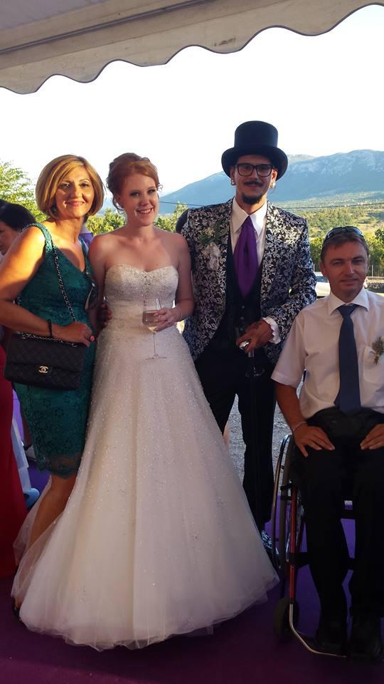 wonderful wedding knin inland croatia europe