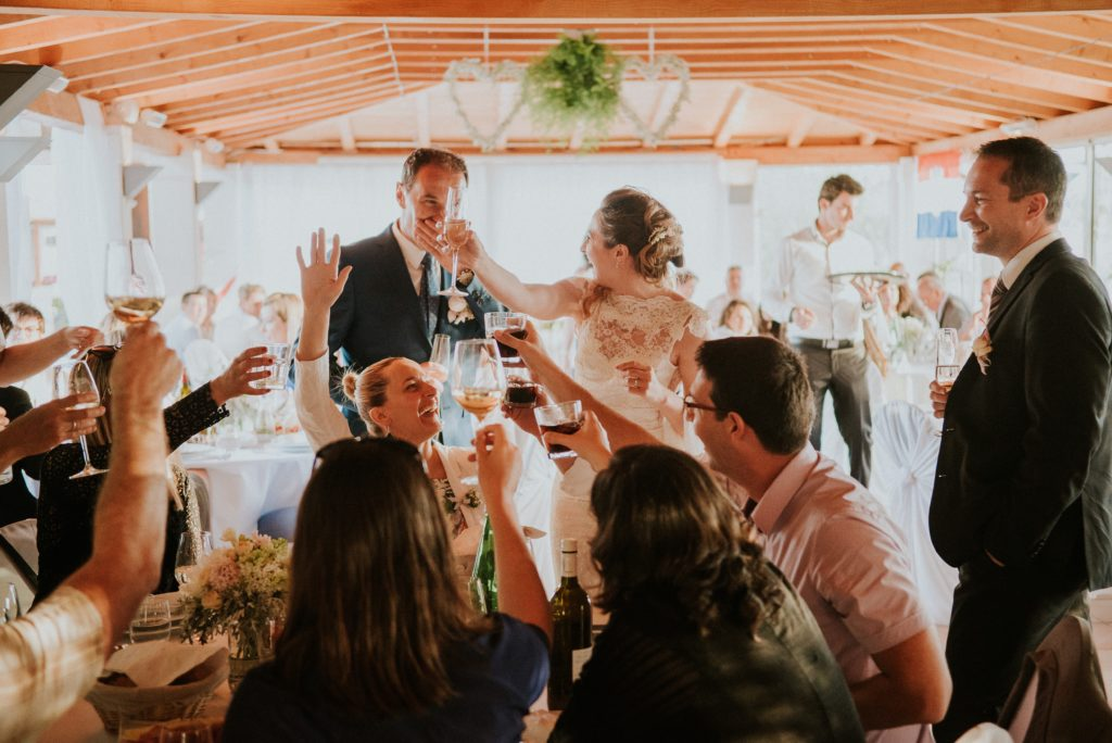 A toast to the wedding