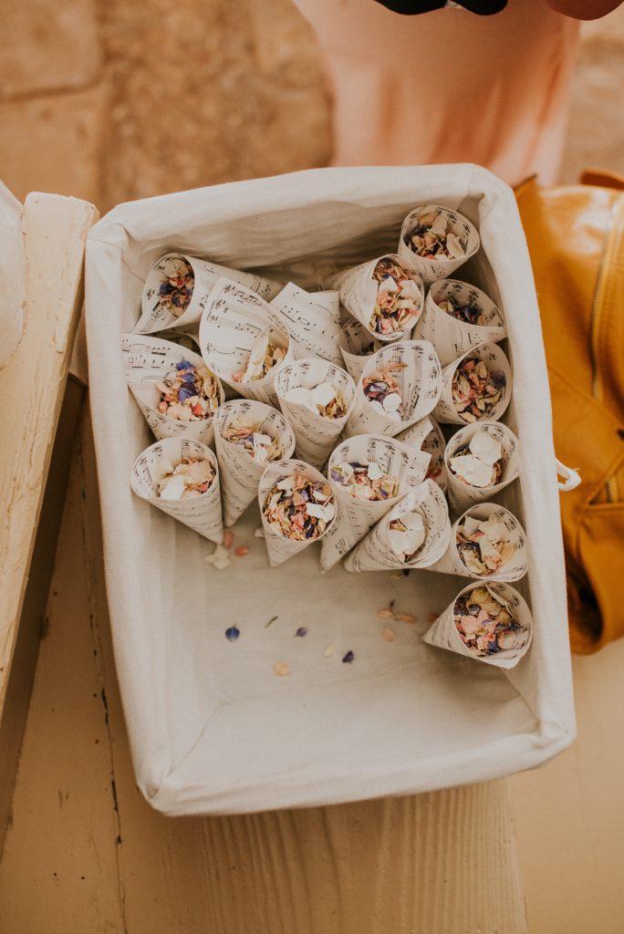 exotic wedding in europe mediterranean confetti